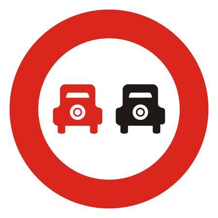 No traffic sign, vector icon. Circular prohibition sign.