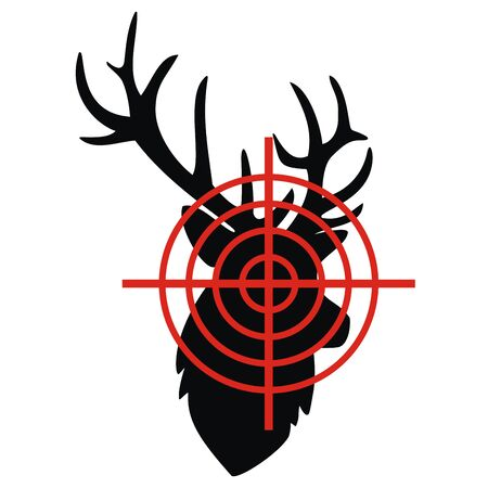 Target, black silhouette, vector illustration. Dartboard icon on white background.