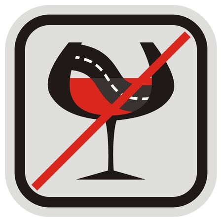 Do not drink alcohol when you drive. No drinking before driving. Vector Illustration Keywords: