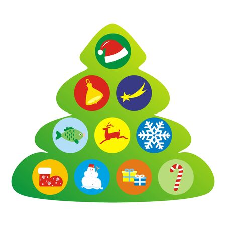 Christmas tree, conceptual vector illustration