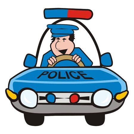 vector illustration Keywords: police patrol