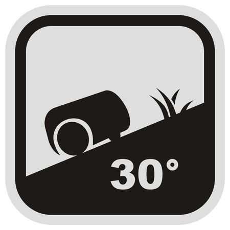 Robotic Lawnmower at Gray and Black Frame, Business Vector Icon