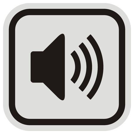 Noise, speaker icon, vector illustration Ilustracja