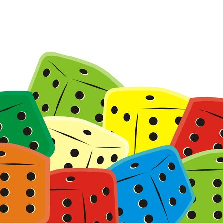 Group of dice, vector conceptual illustration