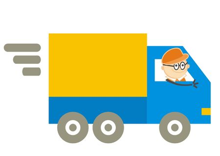 transport services, delivery of consignments, vector funny illustration