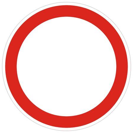 Kein Eintrag Straßenschild-Vektor-Illustration. Nicht erlaubtes Zeichen getrennt auf weißem Hintergrund. Keine Einfahrt aller Fahrzeuge in beide Richtungen.