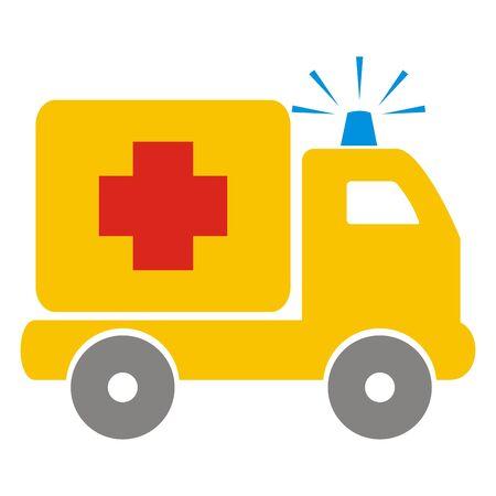 ambulance, car, vector icon