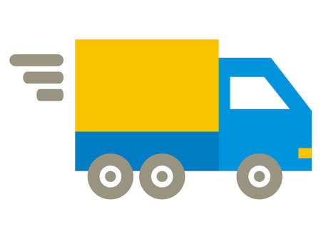 transport services, delivery of consignments, vector icon