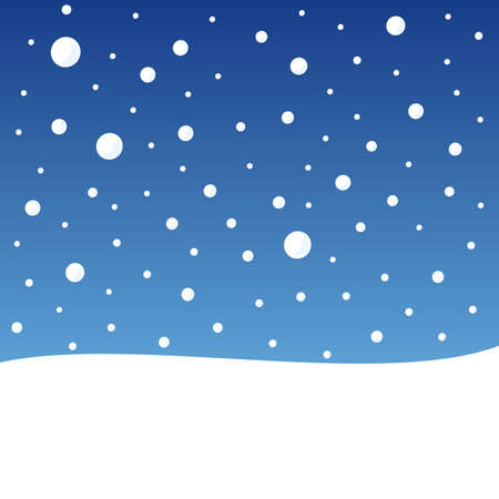Christmas card, snowflakes on the sky, conceptual vector illustration Illustration