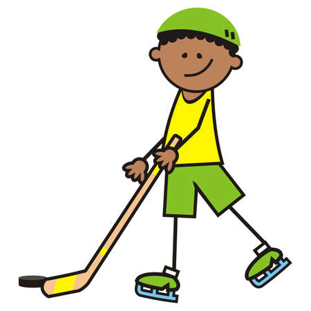hockey player, vector illustration Illustration