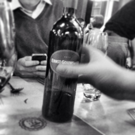tweeting: Drinking wine and tweeting.