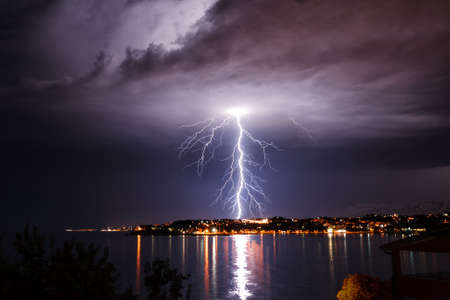 Storm on the coast of Adriatic, Croatia