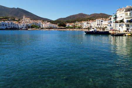 The white village of Cadaques (Costa Brava, Catalonia, Spain) Stock Photo