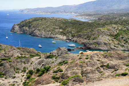 Rocky coast at Cap de Creus (Costa Brava, Catalonia, Spain) Stock Photo