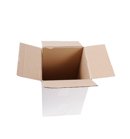 Cardboard box isolated on white. Stock Photo - 9520176