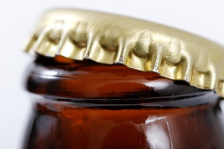 top: Opened bottle.
