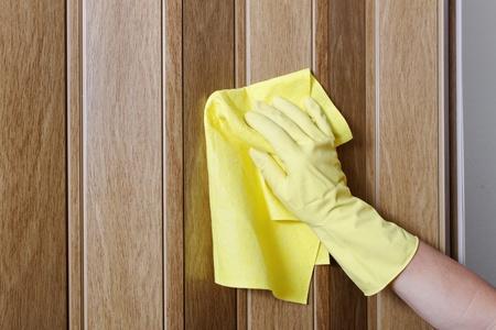 Hand cleaning door. photo