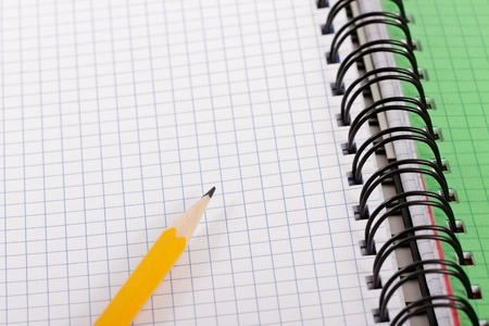 Pencil and notebook. Stock Photo - 10350431