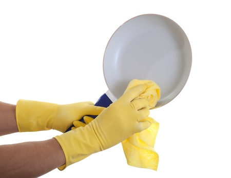 Cleaning of pan.