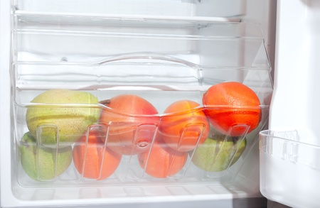 Fruits in fridge. photo