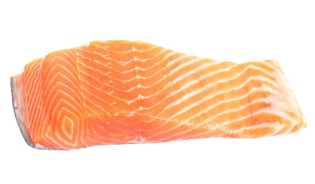 Salmon fillet isolated on white. Stock Photo - 11677595