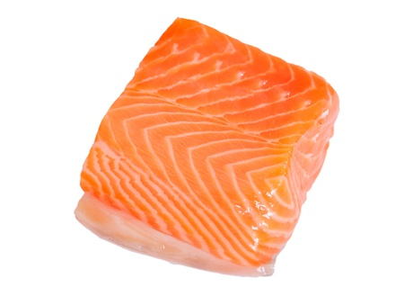 Salmon fillet on white. Stock Photo - 11677598