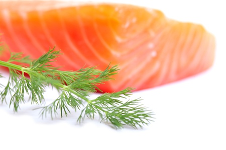 Dill and salmon fillet. Stock Photo - 11677601