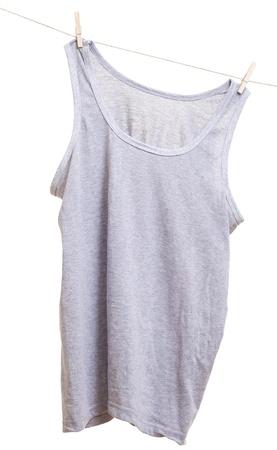Undershirt on clothes line. Archivio Fotografico