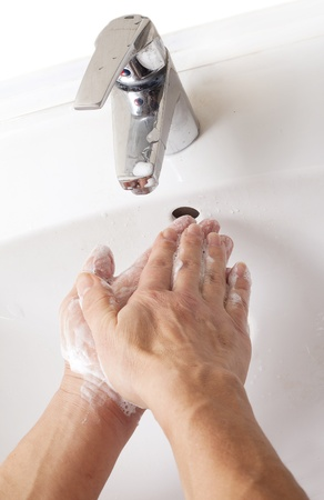 Washing hands. photo
