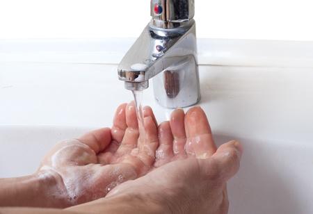 Washing hands. photo
