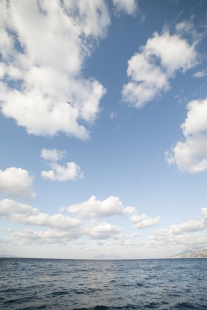 Clouds over gulf of Naples, Tyrrhenian sea, Italy. Stock Photo - 12714725