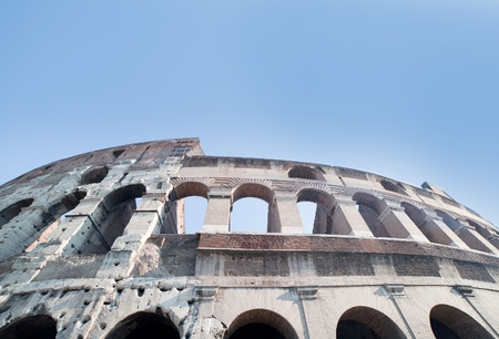 Coliseum ruins in Rome, Italy. photo