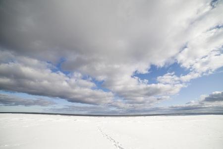 Baltic sea in winter, gulf of Riga , Latvia. Stock Photo - 12714897
