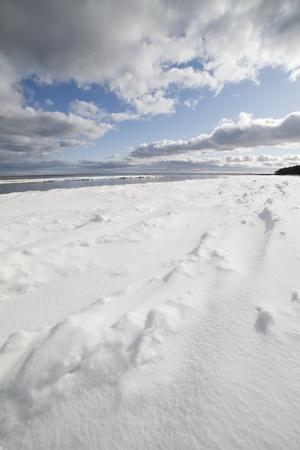 Baltic sea in winter, gulf of Riga , Latvia. Stock Photo - 12714922