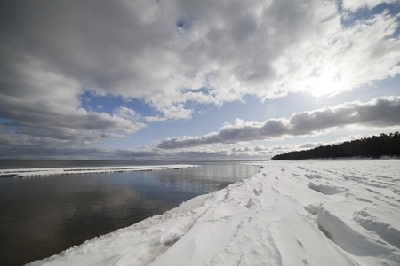 Baltic sea in winter, gulf of Riga , Latvia. Stock Photo - 12714932