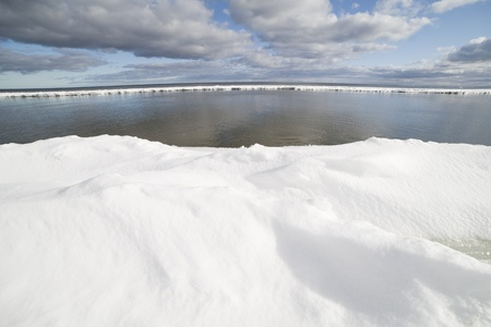 Baltic sea in winter, gulf of Riga , Latvia. Stock Photo - 12715008