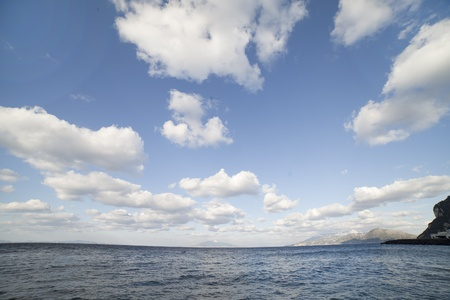 Tyrrhenian sea and clouds  photo