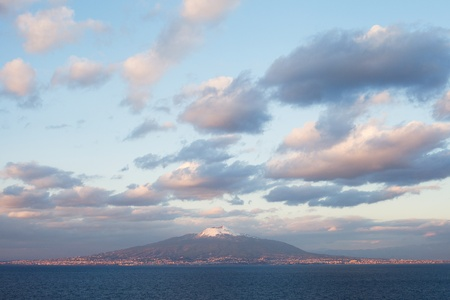 View to Vesuvio from seaside  photo