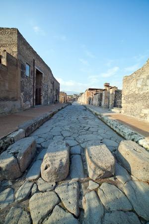 Rue � Pompei ruines, Italie