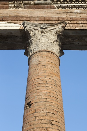 Pillar in Pompeii ruins, Italy  Stock Photo - 13057059