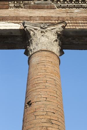 Pillar in Pompeii ruins, Italy Stock Photo - 13057059