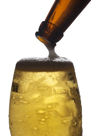 Closeup of beer glass Stock Photo - 13120014