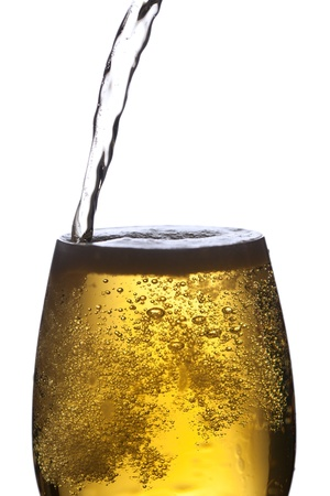 brewage: Closeup of beer glass  Stock Photo