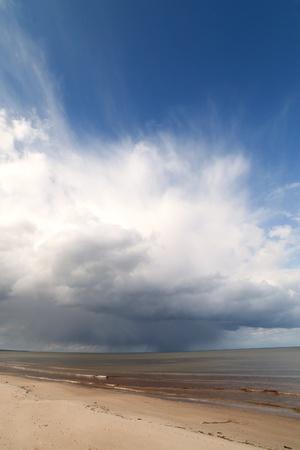 Cloudy sky over Baltic sea, gulf of Riga  photo