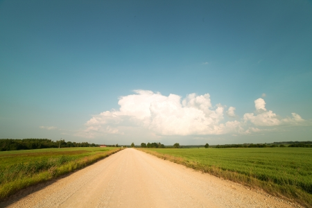 Gravel road in nice day