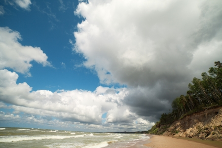 Steep coast of Baltic sea, Latvia , Europe  photo