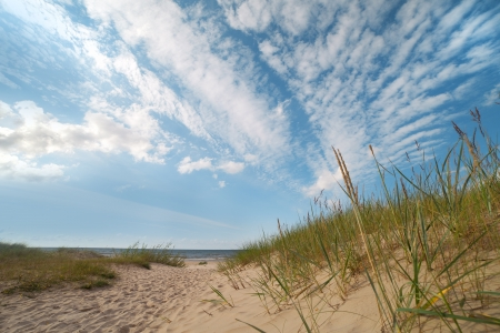Baltic sea coast at Mazirbe, Latvia