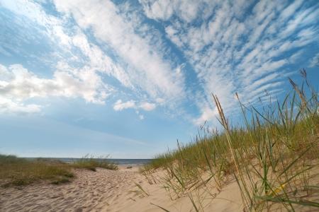 Baltic sea coast at Mazirbe, Latvia