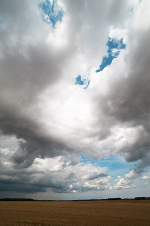 Dark clouds in summer afternoon Stock Photo - 14697515