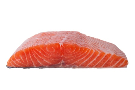 Salmon fillet isolated on white  Stock Photo - 14972406